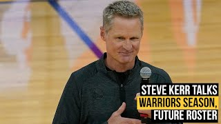 Warriors coach Steve Kerr on 2021 season, Golden State's future roster, Curry, Green, Oubre, Wiseman