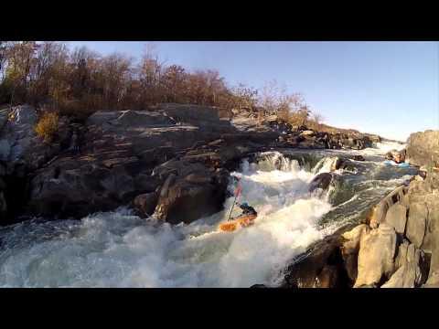 Kayaking - Running the VA Lines - Great Falls, Potomac MD