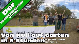 Von Null auf Garten in 6 Stunden. Die Gemüseackerdemie.