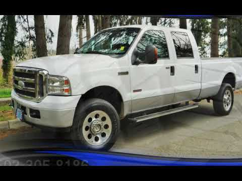 2005 Ford F-350 4X4 POWERSTROKE Diesel BULLETPROOFED Long Bed for sale in Milwaukie, OR