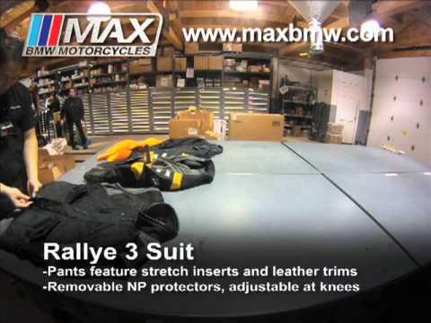 max bmw apparel rallye 3 suit youtube. Black Bedroom Furniture Sets. Home Design Ideas