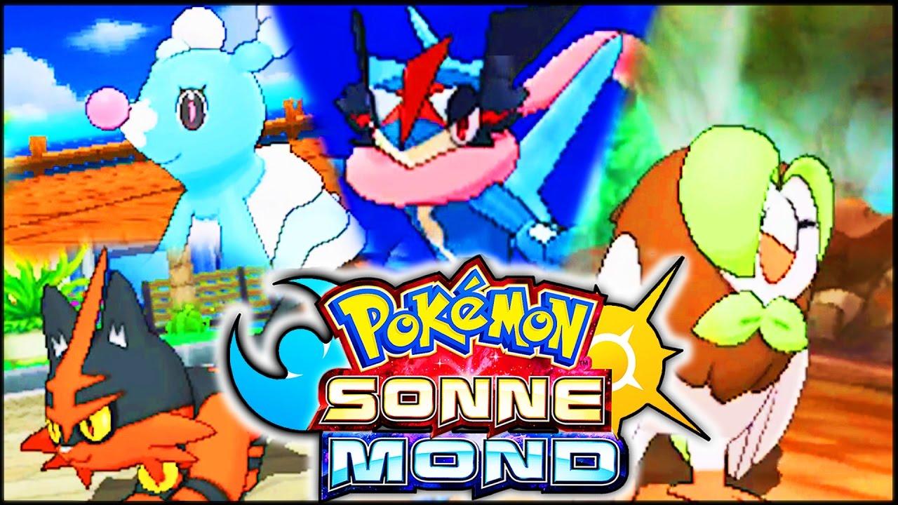 STARTER ENTWICKLUNGEN & ASH QUAJUTSU ! Pokémon Sonne ...