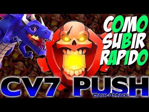 PUSH CV7 :: COMO CHEGAR RÁPIDO NA CAMPEÃO :: CLASH OF CLANS