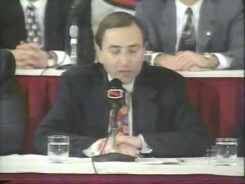 HNIC - 1994-95 NHL Lockout - Gary Bettman