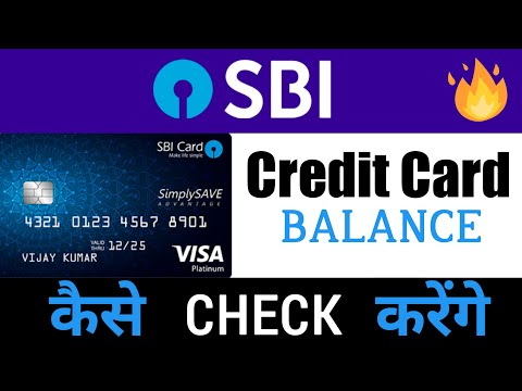 How to check state bank of india credit card balance
