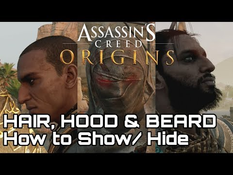 (UPDATED) Assassin's Creed: Origins! Hood, Hair & Beard. How to turn On/Off