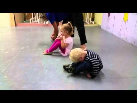 baby boy doing ballet