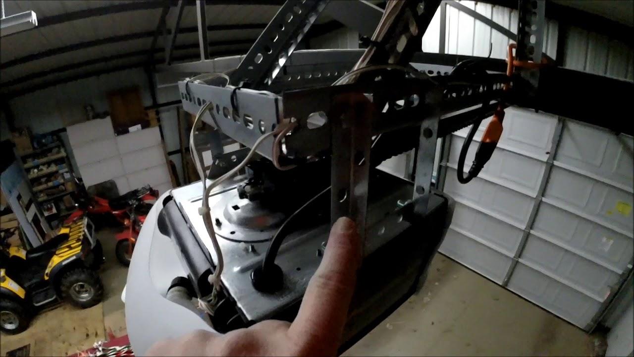 Diy Garage Door Opener Installed On A Steel Building You