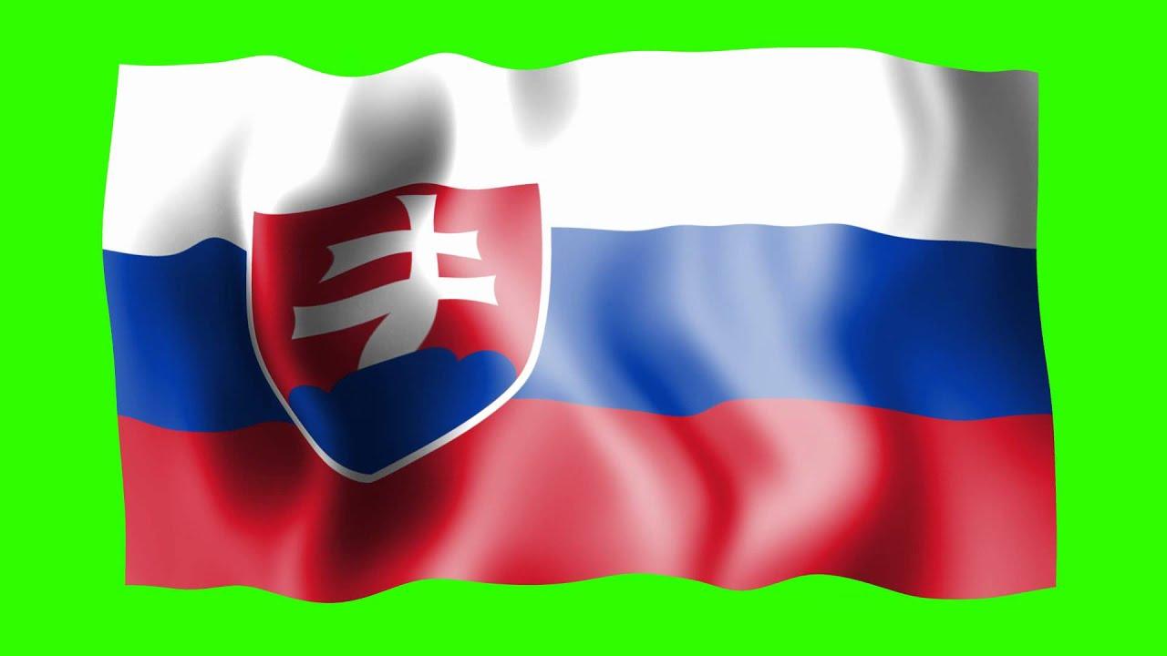 Slovakia Waving Flag - Green Screen Animation - YouTube