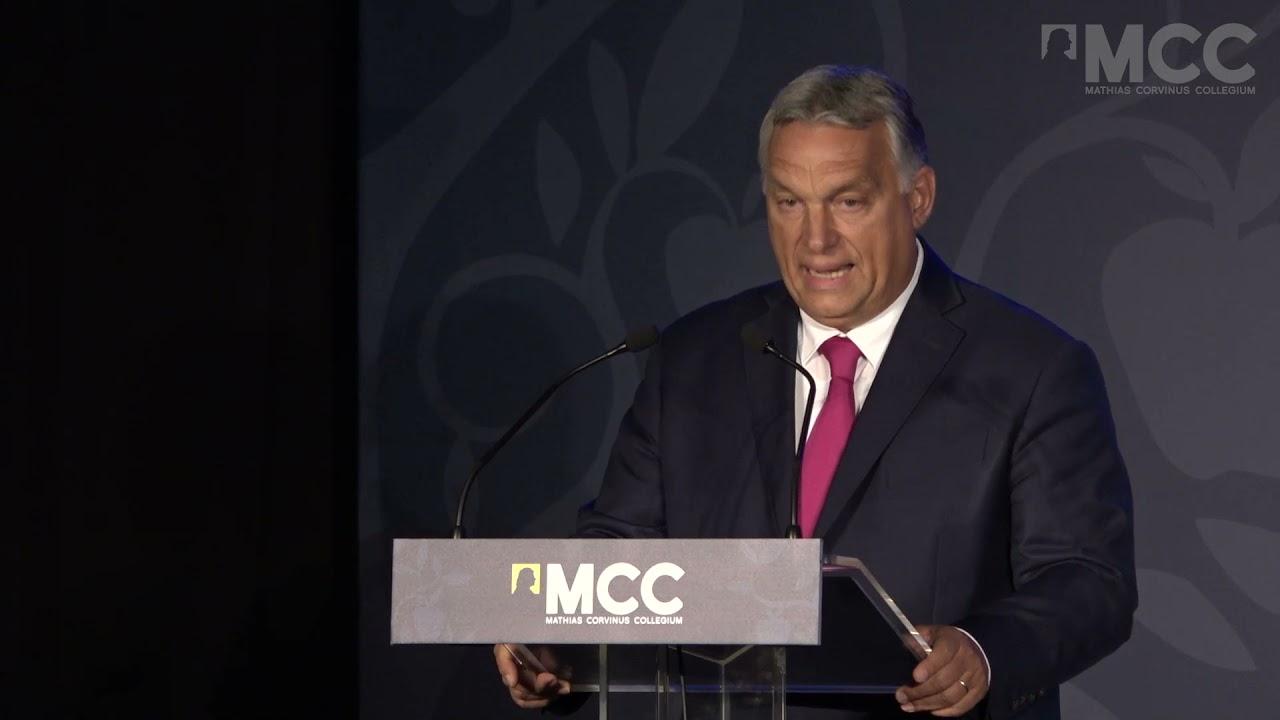 Orbán Viktor miniszterelnök beszéde az MCC évnyitóján