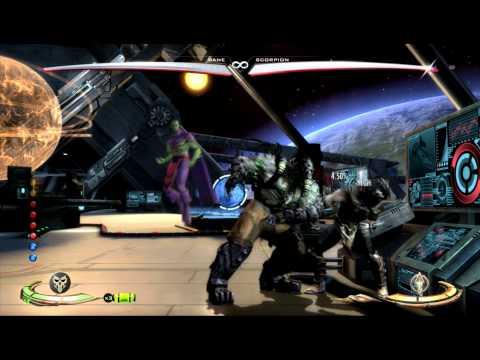 Injustice gods among us Bane high damage combos HD