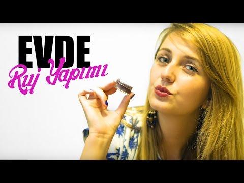 Evde Kolay Ruj Yapımı Dudak Parlatıcı Lipstick Nasıl Yapılır