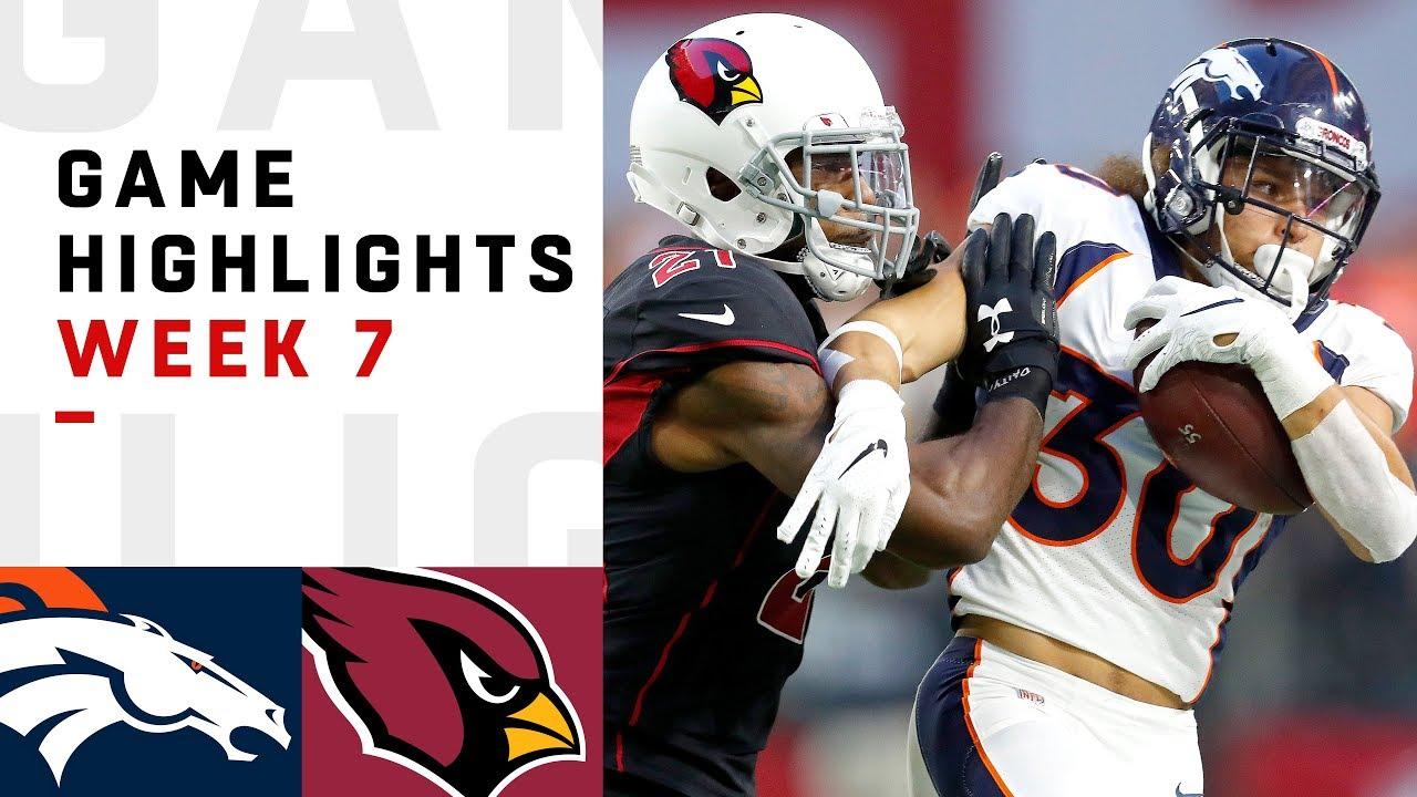 Broncos vs. Cardinals Week 7 Highlights | NFL 2018