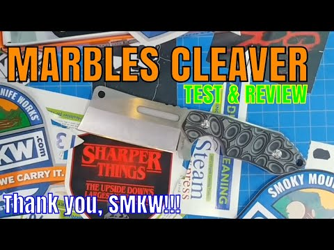 MARBLES CLEAVER KNIFE REVIEW AND BEAT-DOWN!!!