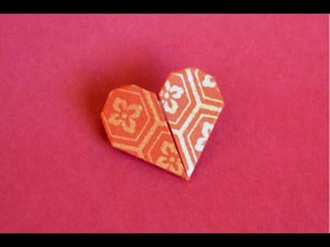 origami heart instructions wwworigamifuncom youtube