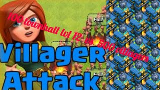500 villagers vs 100 townhall 12