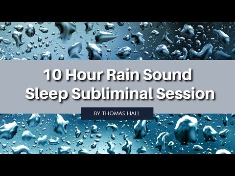 Be Positive & Learn to Love Yourself - (10 Hour) Rain Sound - Sleep Subliminal - By Thomas Hall