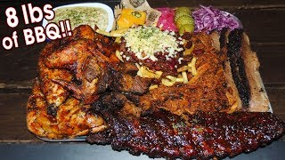 Massive English BBQ Challenge w/ Ribs, Chicken, & Burnt Ends!!