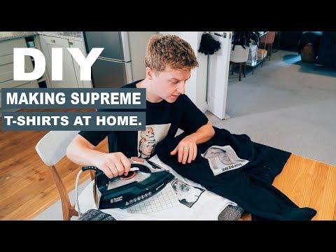DIY How to make cheap Supreme T-shirts at home
