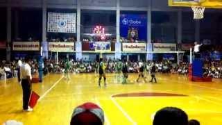 unigames2014 wv championship game dlsu vs nu set 2 1 2 oct 28 2014
