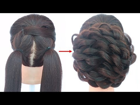 latest updo hairstyle for wedding | messy bun | juda hairstyle | prom hairstyle | wedding hairstyle thumbnail