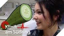 20-Jährige hat Spaß mit Gurke, um untenrum gut zu riechen!   Klinik am Südring   SAT.1 TV