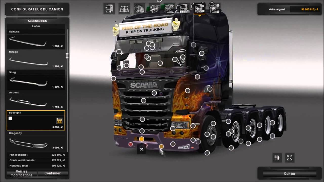 ets 2 tuning camion scania youtube. Black Bedroom Furniture Sets. Home Design Ideas