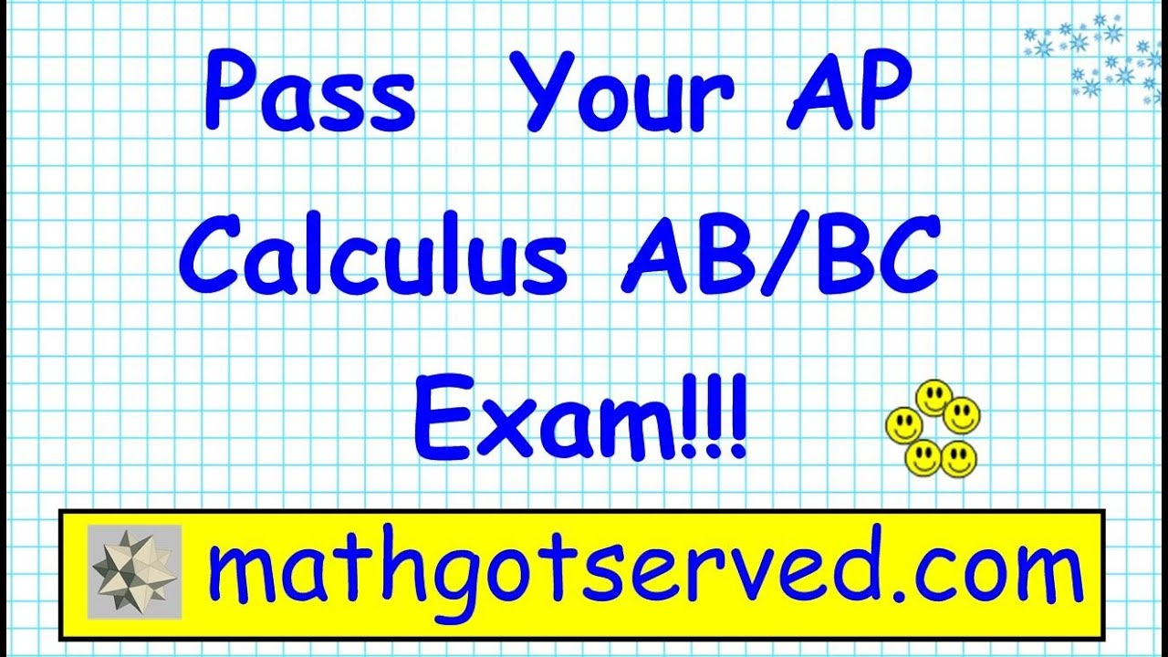 Ap calculus ab bc multiple choice exam 1967 part i 1 to 5 youtube sciox Gallery