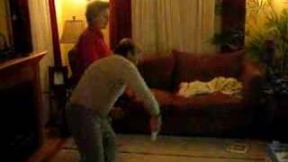 mom and pop playing wii