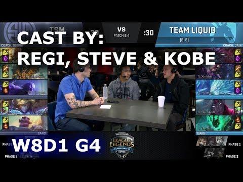 TSM vs TL - cast by Regi, Steve & Kobe (NA LCS Lounge) | Week 8 Day 1 S8 NA LCS Spring 2018