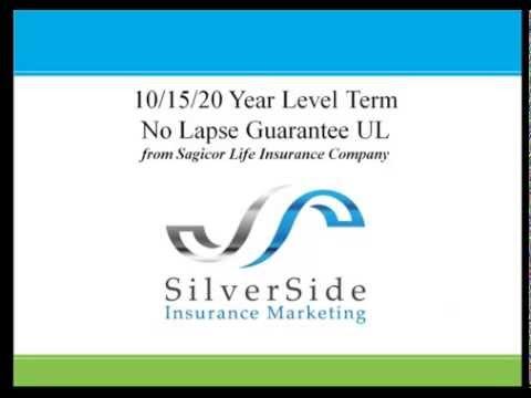 SilverSide Insurance Marketing: Sagicor 10 15 20 Term And No Lapse UL V2