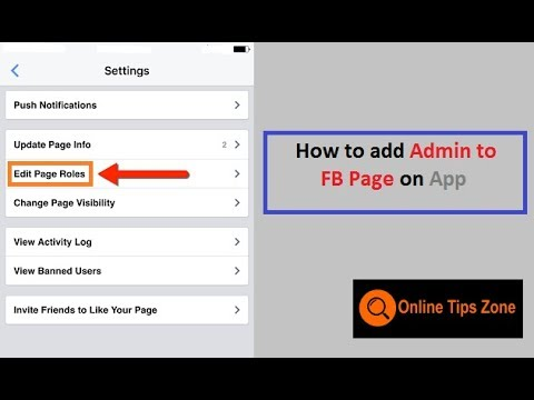 How to add admin to Facebook page from Mobile