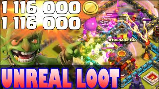 "Clash of Clans - ""UNREAL LOOT!"" 2+ MILLION INSANE Loot from Clan War DESTRUCTION!"