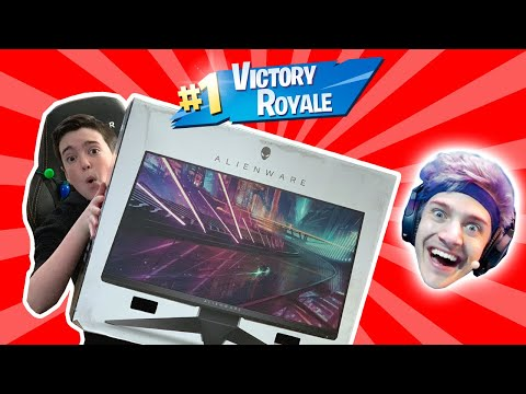 I WON WITH NINJA'S GAMING MONITOR!! - Fortnite Battle Royale