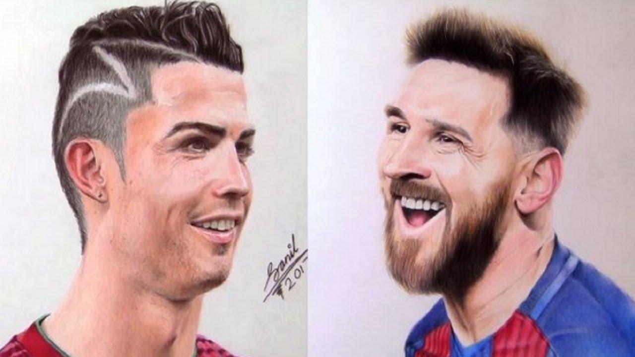 Lukisan Hidup Pemain Bintang Sepak Bola ⚽️ Sketsa 3D Kerennn