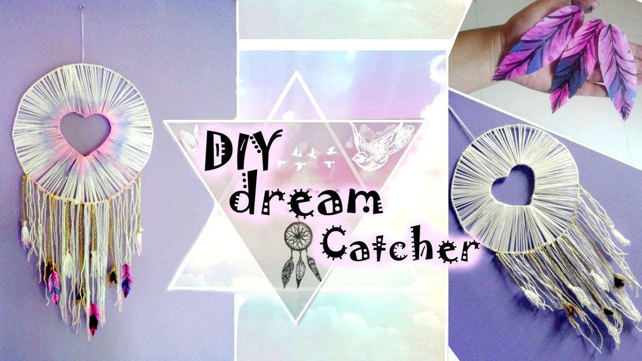 Diy huge dream catcher tumblr inspired youtube for How do u make a dreamcatcher
