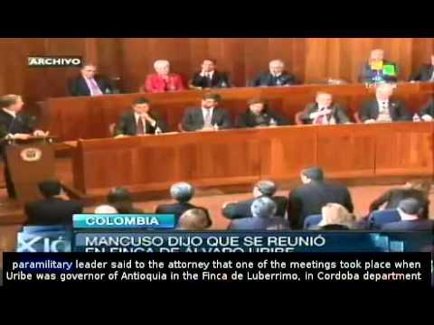 Colombian former paramilitary head says he met Alvaro Uribe