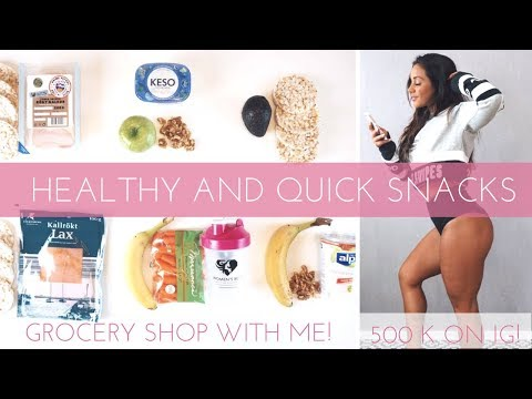 MY 6 BEST FITNESS SNACKS!   GROCERY SHOPPING   BIG THANKS!