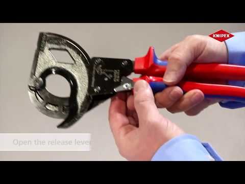 KNIPEX Ratchet Cable Cutters for Steel Wire Armoured Cable SWA Cable