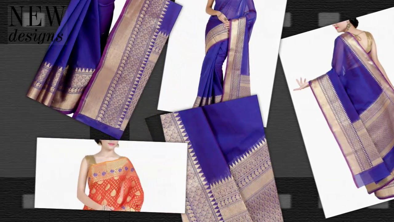 a0a10103d5 Chandrakala Saree, Soft Art Cotton Silk Saree With Blouse ,Multicolor Self  Design Cotton Silk Saree