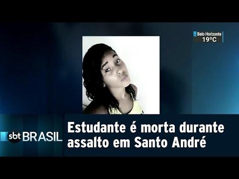 Estudante é morta durante assalto em Santo André, na Grande SP | SBT Brasil (10/08/18)