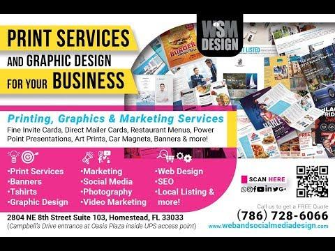 Printing Company in Homestead Florida Print Web & Social Media Design by Martha Melo