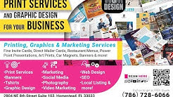 Printing Company in Homestead Florida Print Web & Social Media Design by Martha Melo