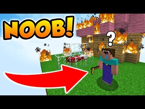 PRETENDING TO BE A NOOB IN MINECRAFT BED WARS