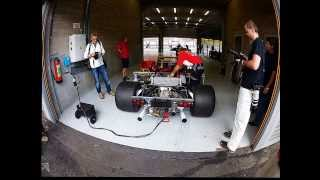 ferrari 312 p getting readied for track at modena track days 2013