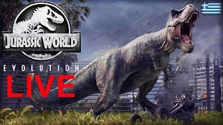 Μάχες στο Isla Nublar! Παίζουμε LIVE Jurassic World Evolution