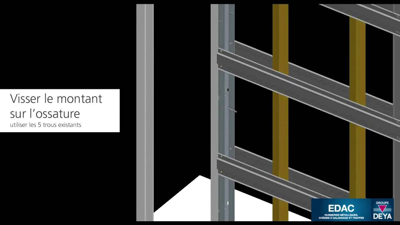 Edac montage du chassis galandage sur l 39 ossature m tallique youtube - Kit porte a galandage ...