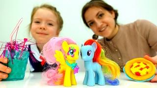 День Рождения #ЛитлПони #Флаттершай Готовим #ПлейДо 🍕 Пиццу! Развивающие игры #длядетей Игрушки пони
