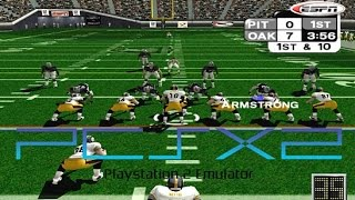 ESPN NFL PrimeTime 2002 PS2 PCSX2 Football 60fps HD (Konami, 2001)