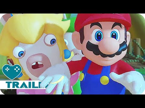 MARIO & RABBIDS: KINGDOM BATTLE Gameplay Trailer (2017) Nintendo Switch Game